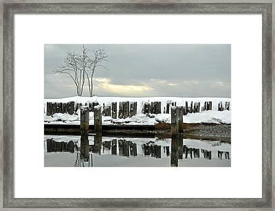 Winter In Birch Bay Framed Print by Matthew Adair