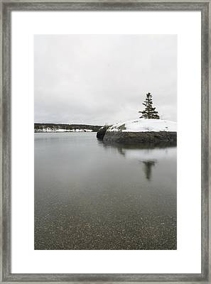 Winter In Blue Hill Framed Print
