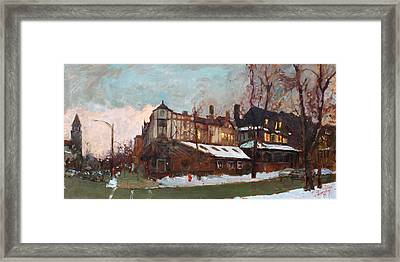 Winter In Buffalo Framed Print by Ylli Haruni