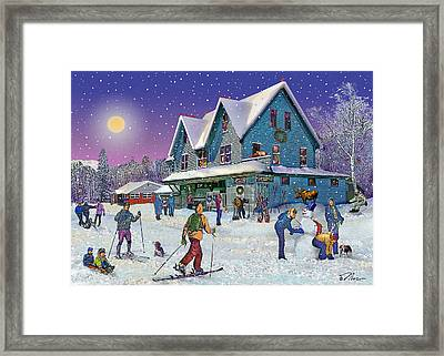 Winter In Campton Village Framed Print