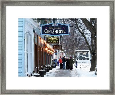 Winter In Cape Vincent Framed Print