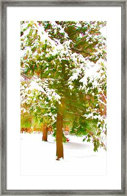 Winter In  Catskills Framed Print by Lanjee Chee