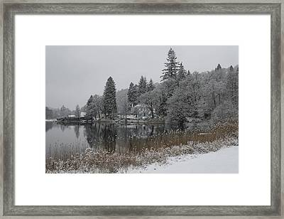 Winter In Central Scotland Framed Print by Jeremy Lavender Photography