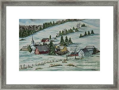 Winter In East Chatham Vermont Framed Print by Charlotte Blanchard