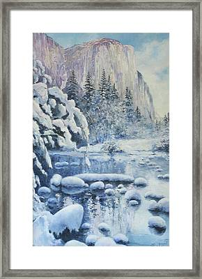 Winter In El Capitan Framed Print