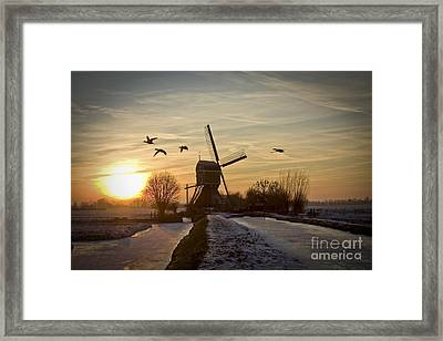 Winter In Holland-2 Framed Print