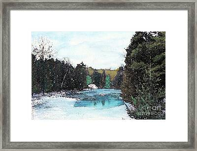 Framed Print featuring the mixed media Winter In Kalkaska by Desiree Paquette