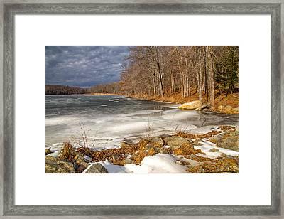 Winter In Kent Framed Print by Karol Livote