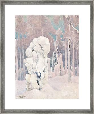 Winter In Kinahmi Framed Print