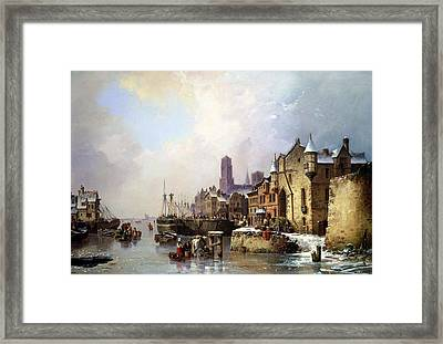 Winter In Konigsberg Framed Print