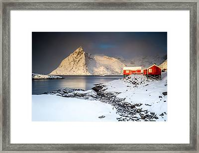 Winter In Lofoten Framed Print by Alex Conu