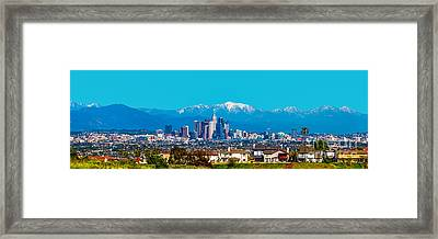 Winter In Los Angeles Framed Print by Art K