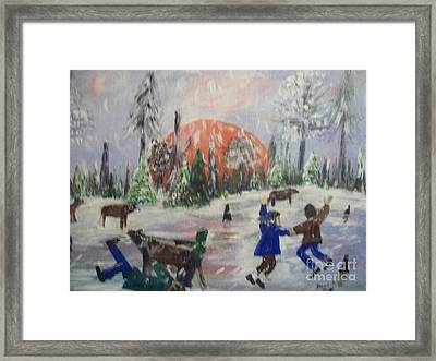 Winter In Louisiana Framed Print by Seaux-N-Seau Soileau