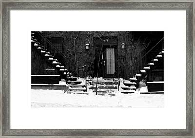 Winter In Montreal Framed Print by Robert Knight