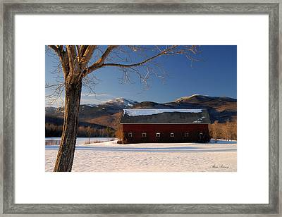 Framed Print featuring the photograph Winter In New England by Alana Ranney
