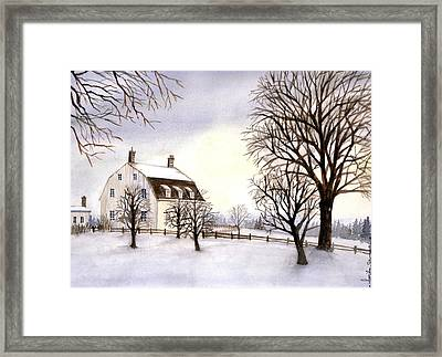 Winter In New England Framed Print by Farida Greenfield