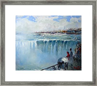 Winter In Niagara Falls Framed Print
