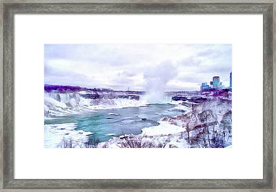 Winter In Niagara 1 Framed Print