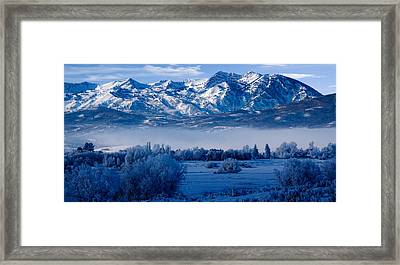Winter In Ogden Valley In The Wasatch Mountains Of Northern Utah Framed Print