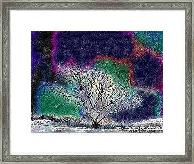 Winter In Oklahoma 2011 Framed Print by Cheri Doyle