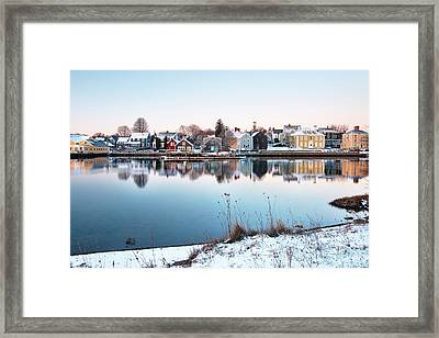 Winter In Portsmouth Framed Print by Eric Gendron