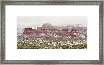 Winter In Sedona Framed Print