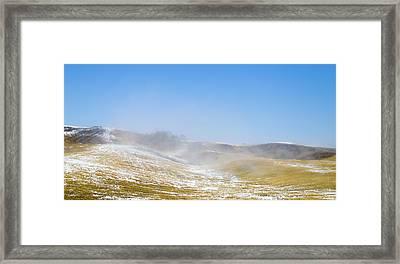 winter in spring II Framed Print