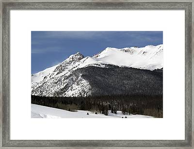Winter In Summit County Colorado Framed Print