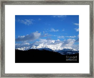 Winter In Switzerland - A Lot Of New Snow Framed Print