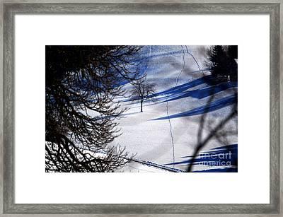 Winter In Switzerland - Snowy Hills Framed Print