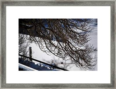 Winter In Switzerland - Snowy Path Framed Print