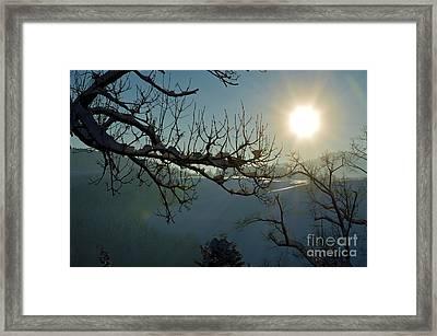 Winter In Switzerland - Sunshine Framed Print