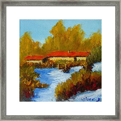 Framed Print featuring the painting Winter In Taos by Fred Wilson