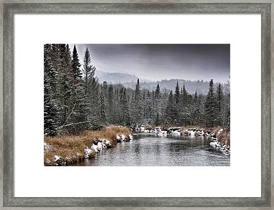 Framed Print featuring the photograph Winter In The Adirondack Mountains - New York by Brendan Reals