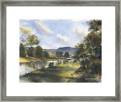 Winter In The Bellinger Valley Framed Print
