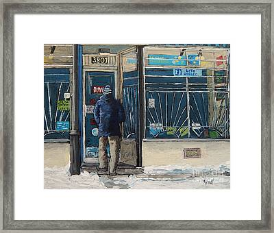 Winter In The City Framed Print by Reb Frost