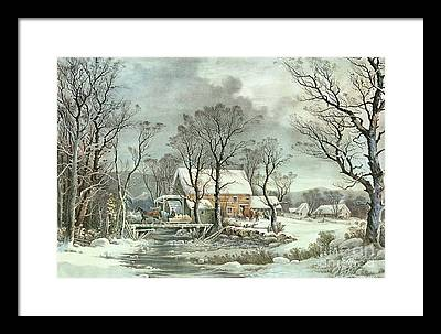 Currier And Ives Paintings Framed Prints