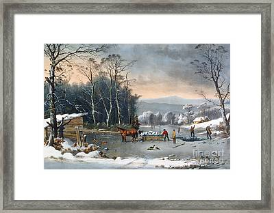 Winter In The Country Framed Print
