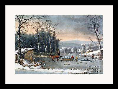 By Currier And Ives Framed Prints