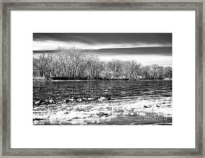 Winter In The Delaware Valley Framed Print