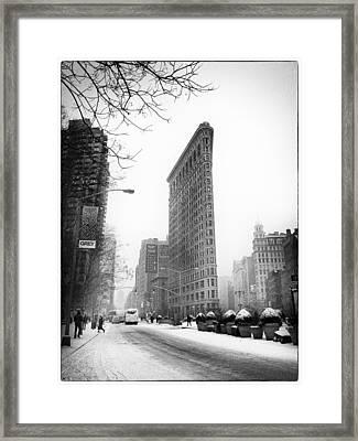 Winter In The Flatiron District Framed Print