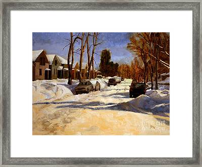 Winter In The Highlands Framed Print by Tate Hamilton