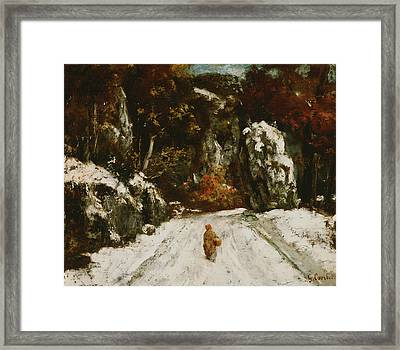 Winter In The Jura Framed Print