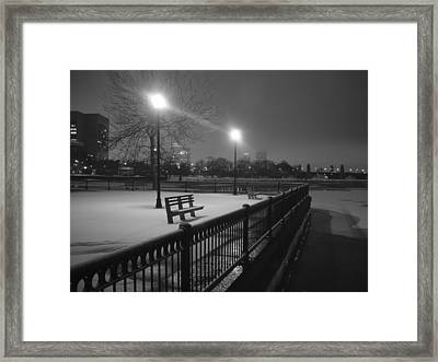 Winter In The Park Framed Print by Eric Workman