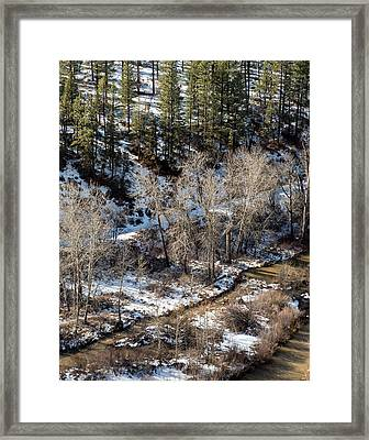 Winter In The Susan River Canyon Framed Print