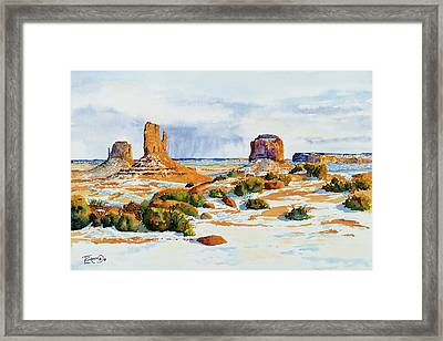 Winter In The Valley Framed Print