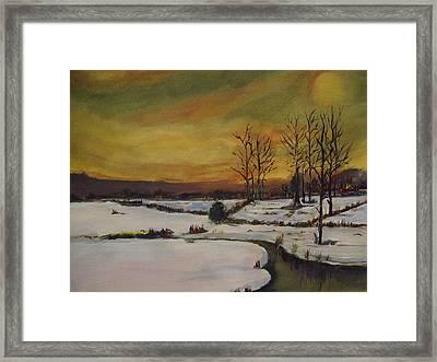 Winter In Upstate New York Framed Print