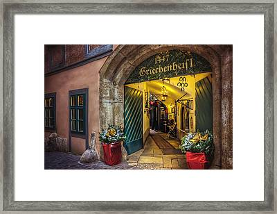 Winter In Vienna Framed Print by Carol Japp