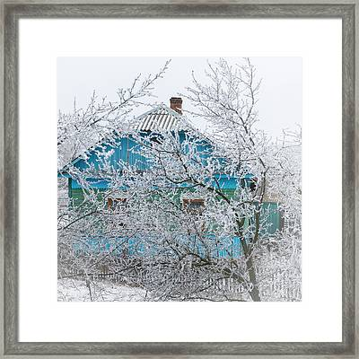 Winter In Village. Shchymel, 2014. Framed Print