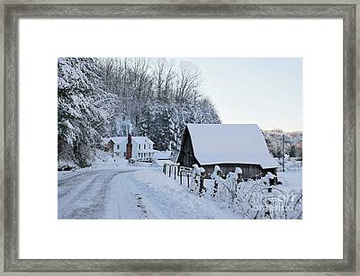 Winter In Virginia Framed Print